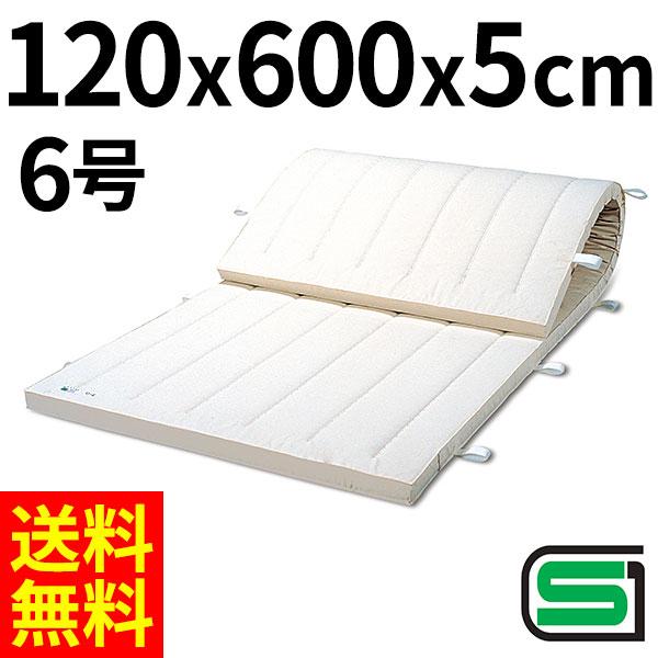 体操マット 体操教室などで使える 体操 練習マット SGマーク付体操マット 6号 120×600×厚5cm