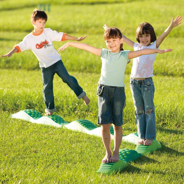 平均台 ウェイブバランス平均台(グリーン) 低床式平均台 スポーツ バランス遊具