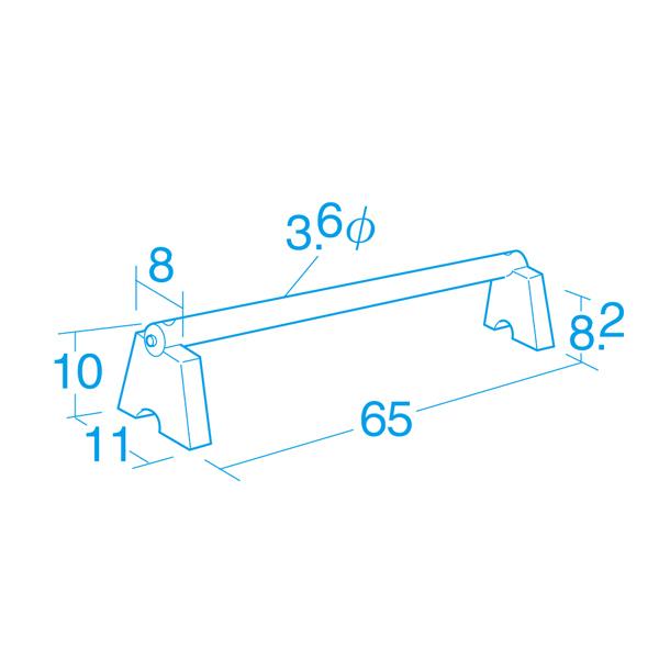 バランス感覚やジャンプ力の向上に バランス 運動 室内用 カラー運動棒・10cm高さ(10本組)