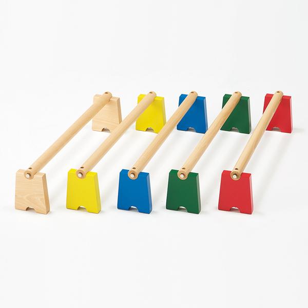 バランス感覚やジャンプ力の向上に バランス 運動 室内用 カラー運動棒・15cm高さ(5本組)