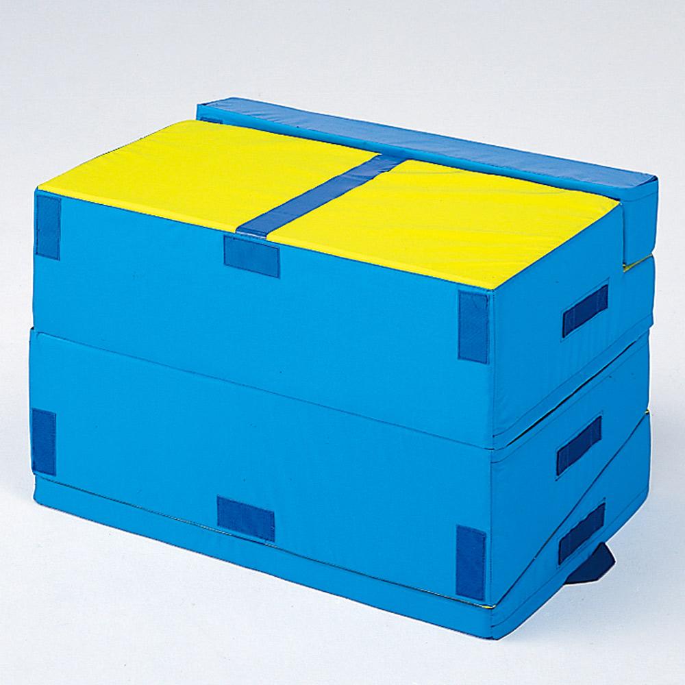 ソフト素材のスロープマット 前転・後転運動の補助マットにも 前転 後転 マット ローリングマット・青