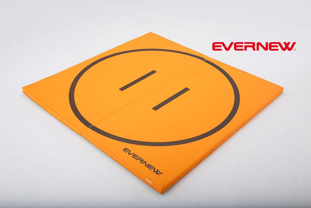 体操マットとしても使える 軽量折りたたみ土俵マットすべり止付 EKM510 EVERNEW