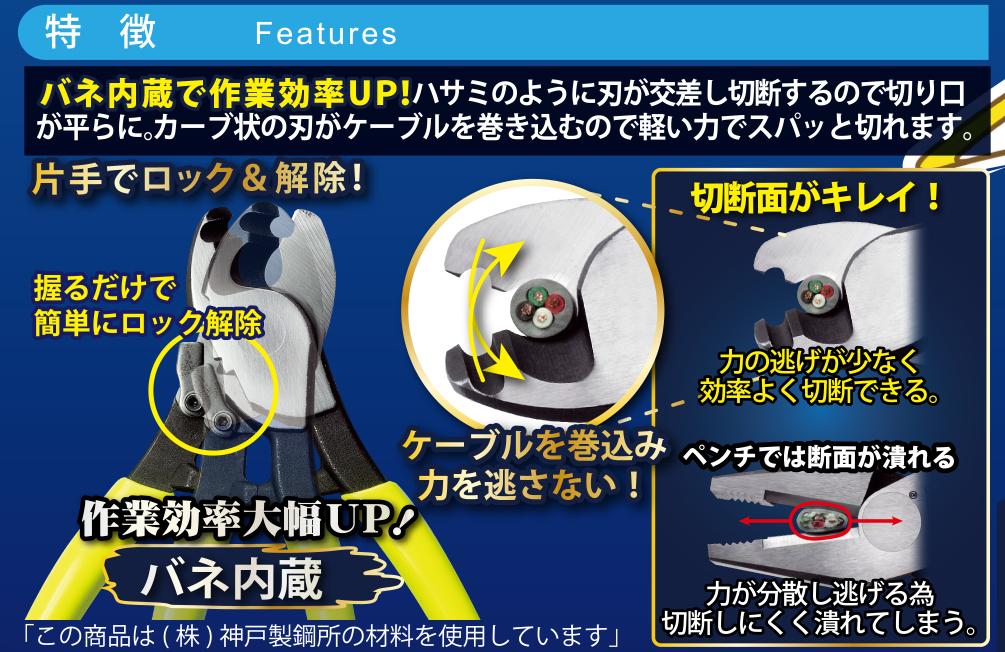 【CA-22S】イエローシャーク22(ケーブルカッター)