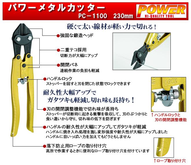 【PC-1100】パワーメタルカッター