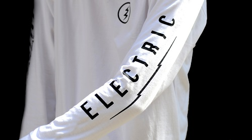 Basser × ELECTRIC CO-LAB L/S TEE WHITE