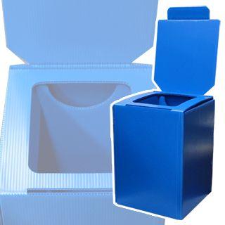 組立式簡易便器 マイレット プラダントイレ ブルー