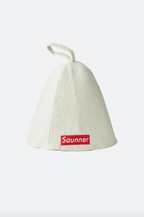 Saunner Box Logo Sauna Hat White