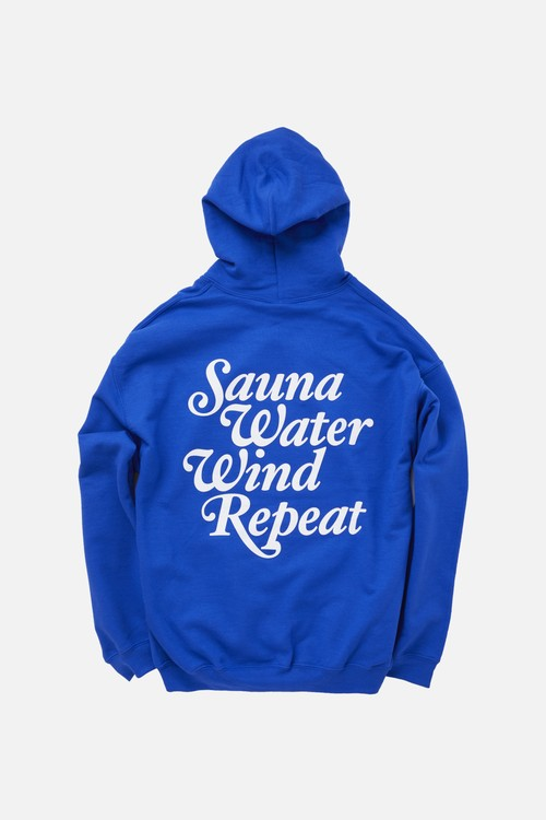 "TTNE Small Box Logo Message Hooded Sweatshirt ""Repeat"" - Mizuburo Blue"