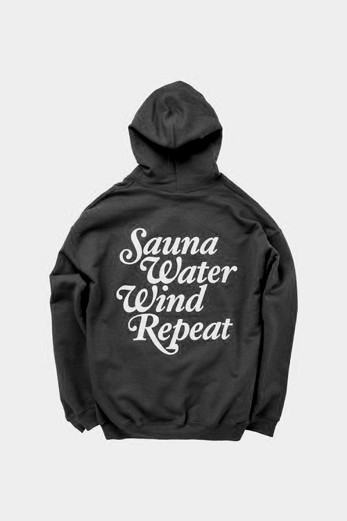 "TTNE Small Box Logo Message Hooded Sweatshirt ""Repeat"" - Black Edition"