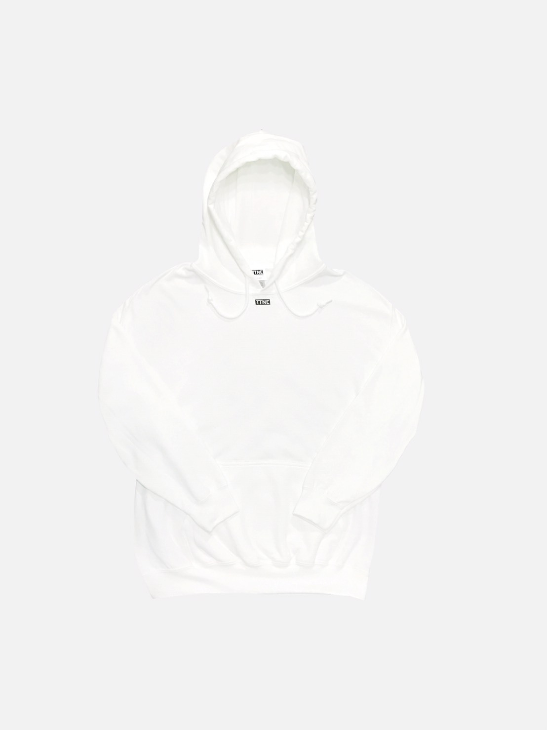 "TTNE Small Box Logo Message Hooded Sweatshirt ""Repeat"" - White Edition"
