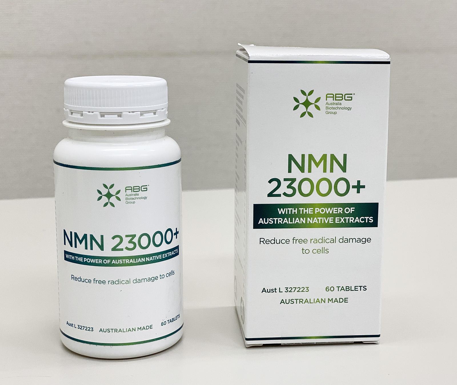 ABG社製 NMNサプリ「NMN 23000+」60錠入【送料込み】