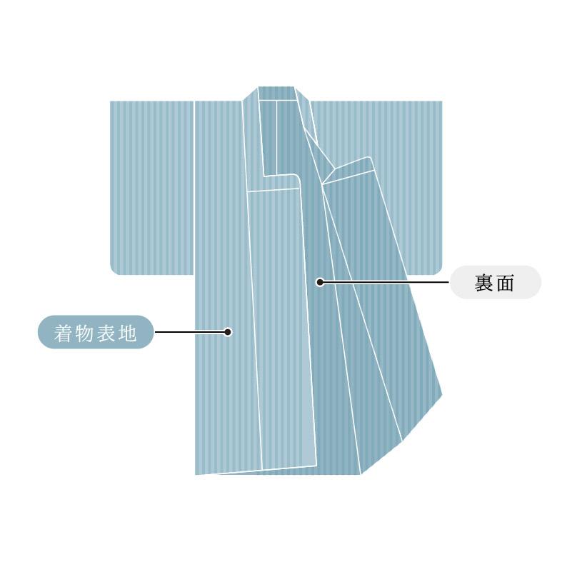 道行コート 単衣  国内手縫い仕立て 湯のし込み
