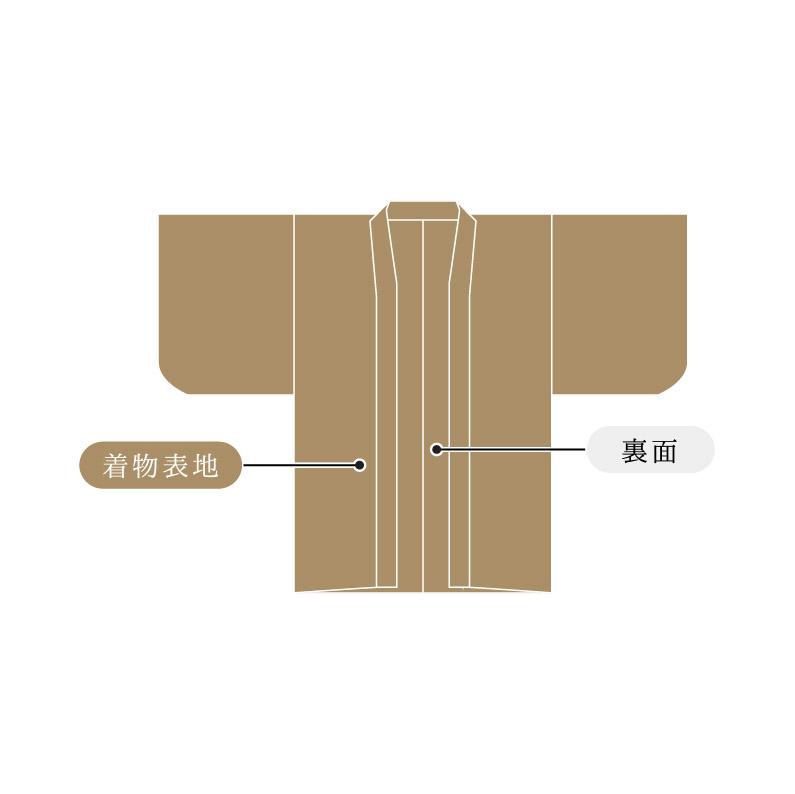 男物羽織 単衣  国内手縫い仕立て 湯のし込み