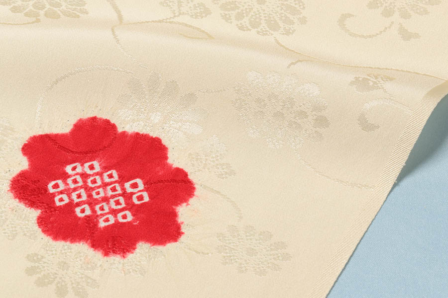 長襦袢 正絹 反物 加藤萬 着物 和服 赤 絞り フルオーダー 別誂え 襦袢 着物 着付け お洒落用 お誂え 誂え 襦袢