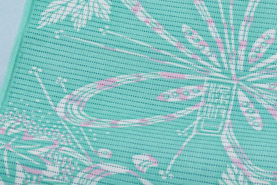 浴衣 綿 綿絽 加賀小紋 型染 友禅 加賀友禅 反物 未仕立て 夏祭り 夏着物 夏 街着 絽 作家 落款 新品 レディース 高級 単品 上品 女性用 女物