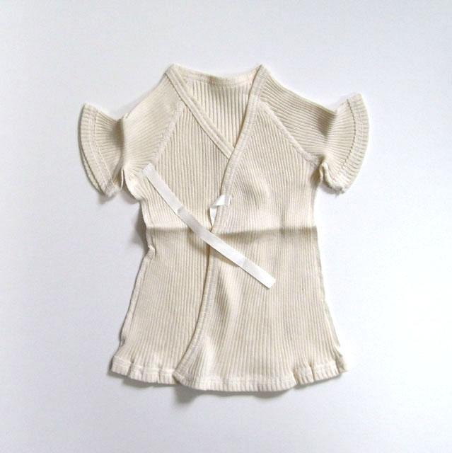 <新生児用>半袖短肌着 リブ 癒しのコットンシリーズ ※在庫限り終売