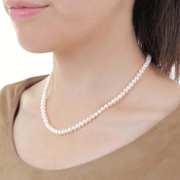 本真珠 ベビーパールネックレス 約5.5mm  花珠級真珠パールネックレス