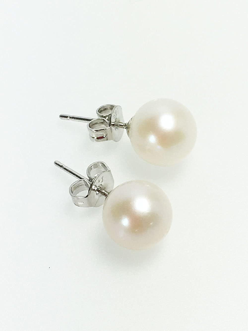 ウエディングパール 冠婚葬祭用 本真珠ネックレス&ピアスorイヤリングセット 8.5-9mm ハートキーパーボックス付