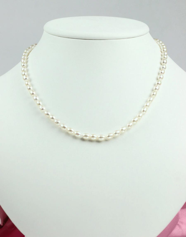 本真珠ベビーライスパールネックレス 5-5.5mm
