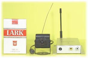 【SA-48524】 1.2GHZ CCDカラー(ボードレンズ)ワイヤレスカメラと受信機セット