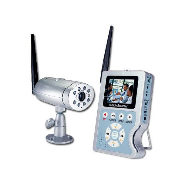 """SA-48658 MPEG4コンパクトフラッシュメモリーDVR録画機(2.5""""カラーTFT・LCD)と赤外線IR付4chワイヤレスCCDカラー防犯カメラ"""