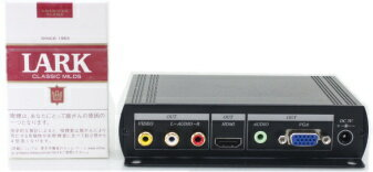【SA-50634】 防犯カメラ・監視カメラ・録画機や監視モニター用 ビデオ(コンポジット信号)・音声信号→VGA・HDMI変換器 アップスキャンコンバーター