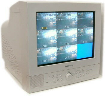 SA-49236  8CH映像入力、カラー15インチCRTモニター 監視カメラ用