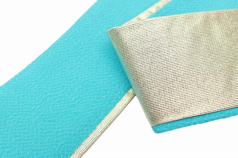 重ね襟 振袖 重ね衿 成人式 振袖 ブルー 新品 華やか 新品 レターパック対応可能 縮緬 ちりめん