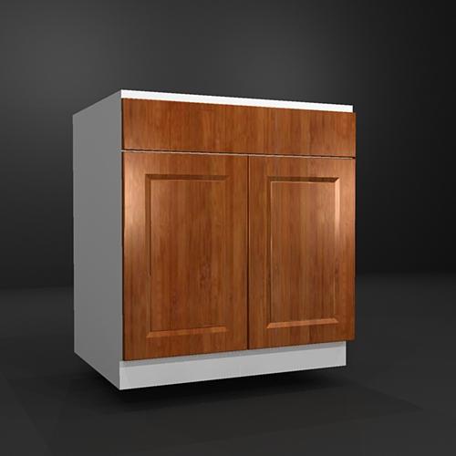 木製扉:シンクキャビネット