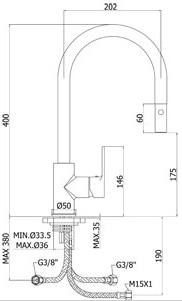 シングルレバーキッチン混合水栓 PAFFONI-KITCHEN RED RED285CR
