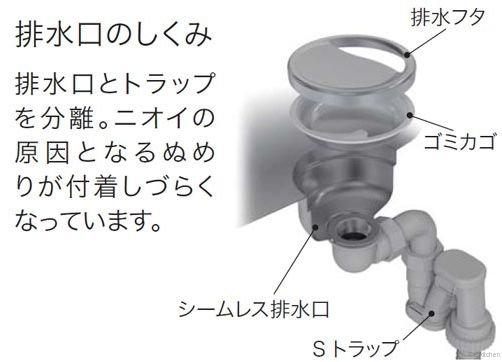 アンダーシンク NEGB-DK 【エンボス仕上げ】(排水部品込)