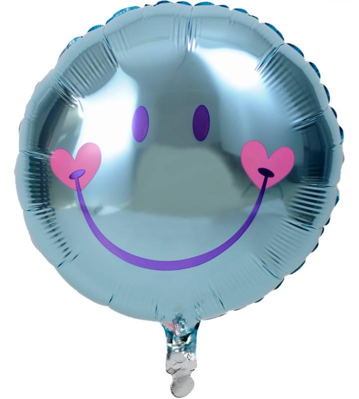 スターとぷちハート、ブルースマイル、大きなファーストバースデー【1才の誕生日のバルーン電報・男の子】