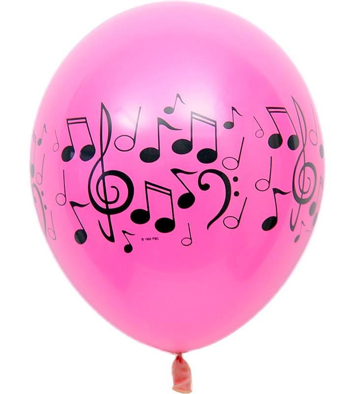大きな音符と4連音符バルーン【ピアノやバレエの発表会のバルーン電報】