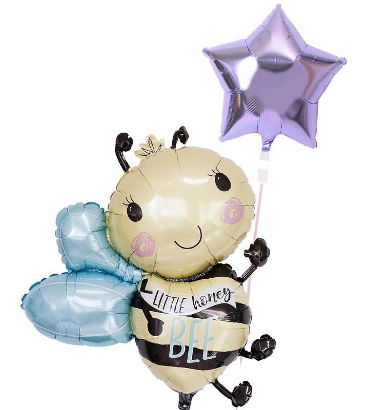 ラベンダースターとミツバチ【お祝いやパーティーのバルーン電報・装飾】