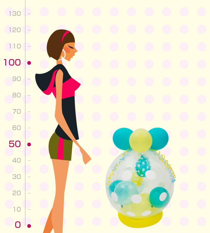 ブルーキャンディーとイエローキャンディーのラッピングバルーン【お祝いやパーティーのバルーン電報・装飾】