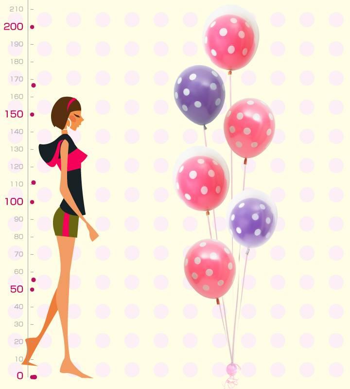 ピンクドットとパープルドットの6連ブーケ♪ どんなシーンでもOK♪お祝いブーケ【お祝いやパーティーのバルーン電報・装飾】