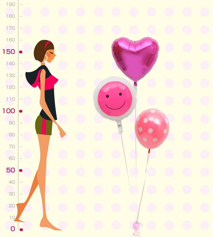 ピンク一色!ハートとスマイルフェイスとドット【お祝いやパーティーのバルーン電報・装飾】