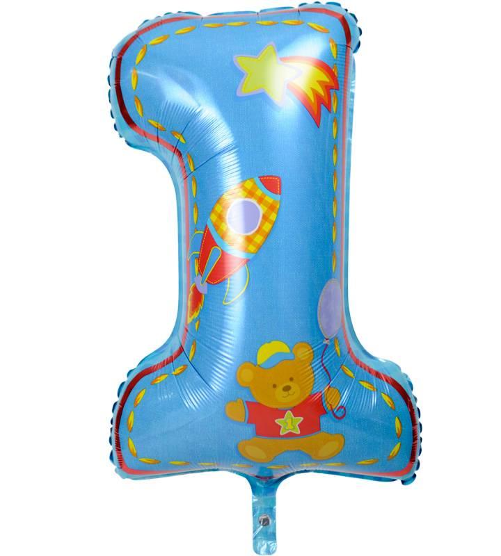 ほんわかドットと大きなファーストバースデー【1才の誕生日のバルーン電報・男の子】