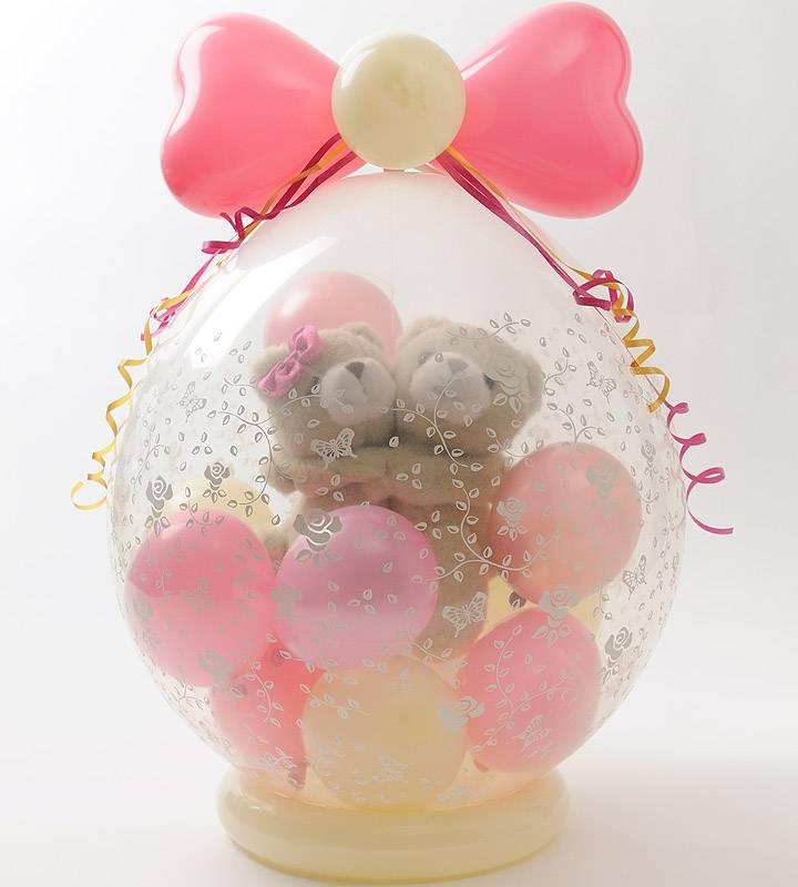 ラッピングバルーン♪仲良しラブベア—(くまちゃん)♪【お祝いやパーティーのバルーン電報・装飾】