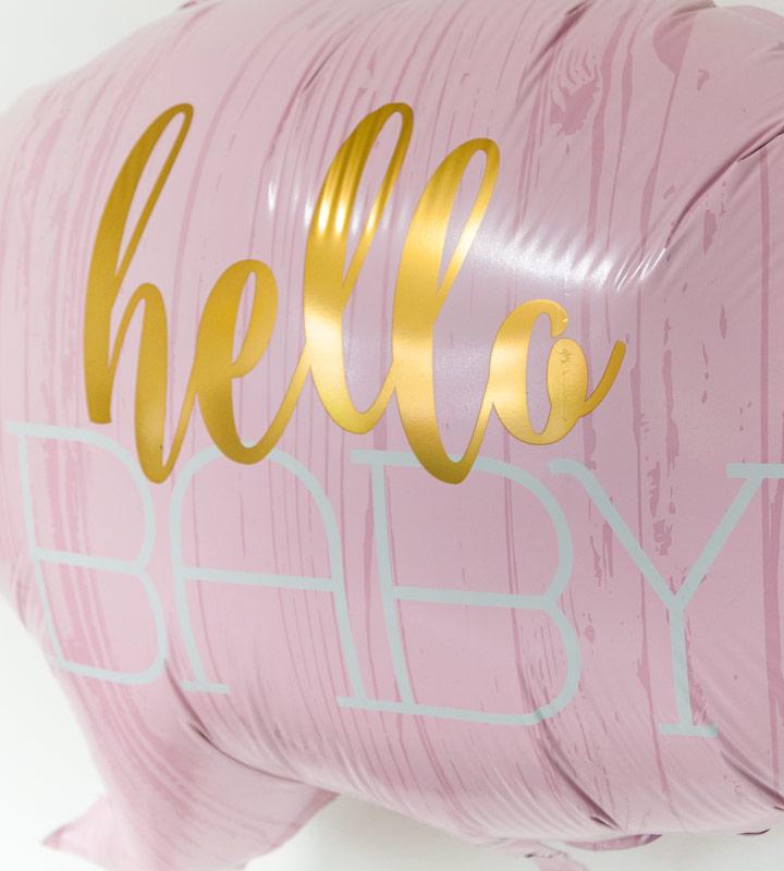 ハローベイビー(ピンク)とレディバグ【出産祝いのバルーン電報 女の子】