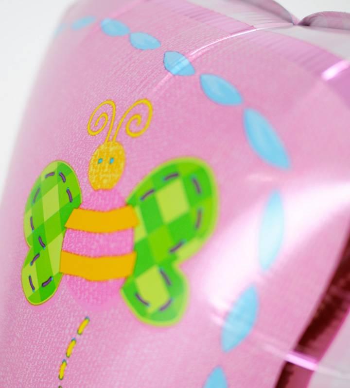 ハートとぷちハート&スマイルと大きなファーストバースデー【1才の誕生日のバルーン電報・女の子】