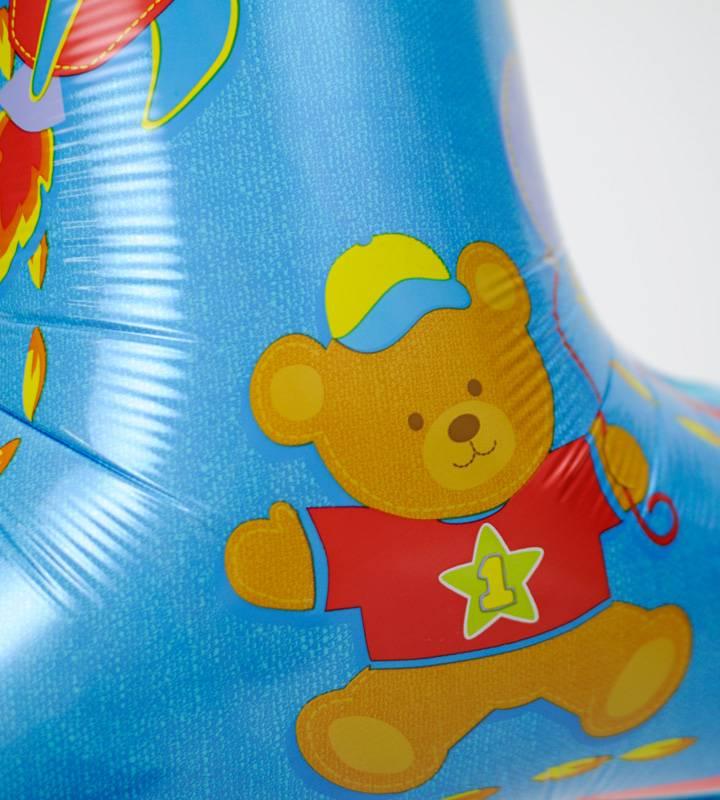 パーティースマイルとスターと大きなファーストバースデー【1才の誕生日のバルーン電報・男の子】