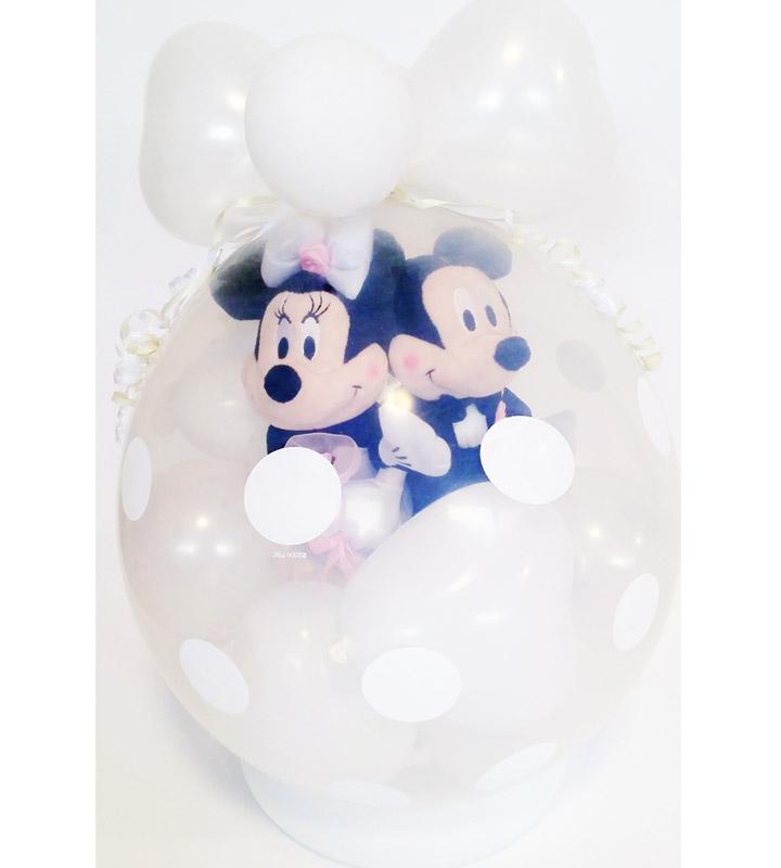 タキシード・ウェディングドレス♪ミッキー&ミニーのホワイトウェディング【結婚式のバルーン電報・バルーンギフト】