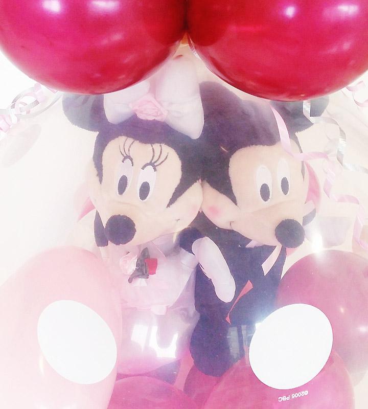 タキシード・ウェディングドレス♪ミッキー&ミニーのボルドーウェディング【結婚式のバルーン電報・バルーンギフト】