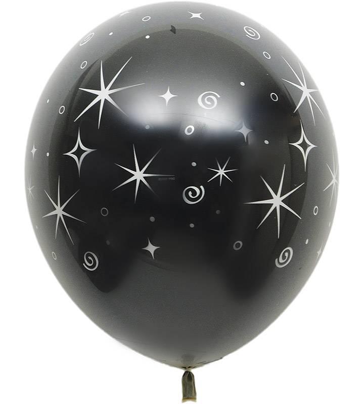 ゴールド&ブラックの2連バルーンとシャンパンバルーンでお祝い!ラッピングバルーン【お祝いやパーティーのバルーン電報・装飾】