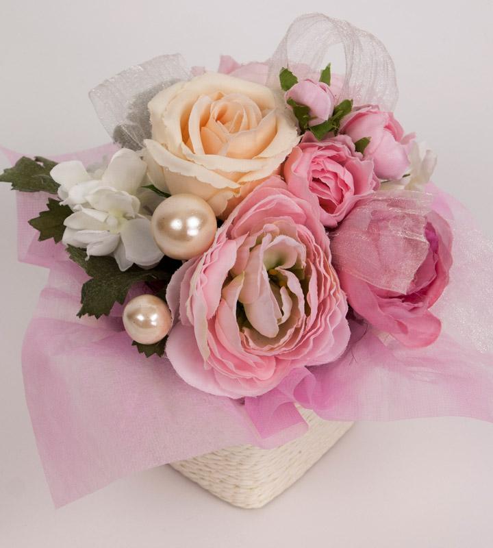 ピンク系アレンジメントのラッピングバルーン【お祝いやパーティーのバルーン電報・装飾】