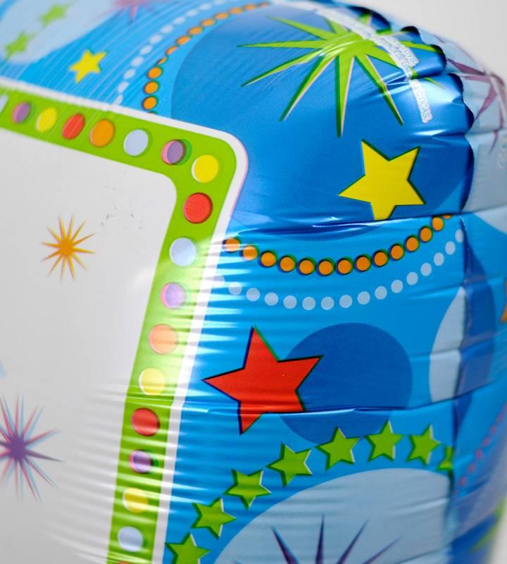 ぷちスマイルとライムスターとブルードットのファーストバースデー【1才の誕生日のバルーン電報・男の子】