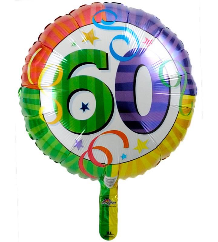 大きなバースデーケーキと60才バルーン【還暦祝いのバルーン電報】