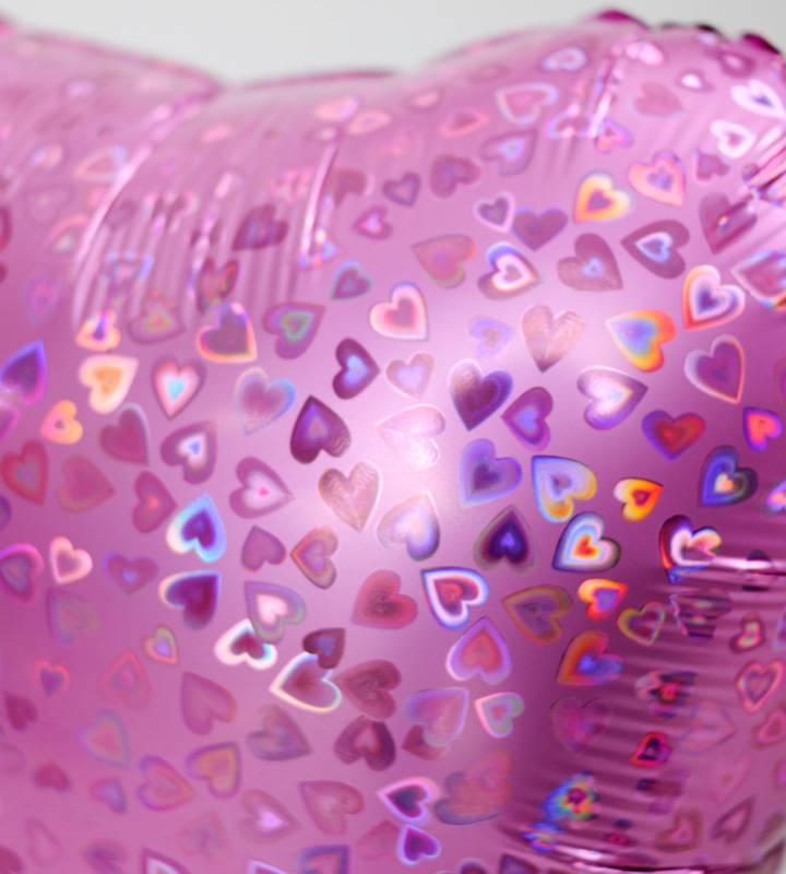 バレリーナチュチュときらきらピンクハート【ピアノやバレエの発表会のバルーン電報】