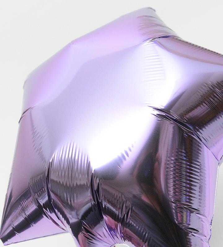 バレリーナチュチュとピンクドット、ラベンダースター、ピンクハート【ピアノやバレエの発表会のバルーン電報】